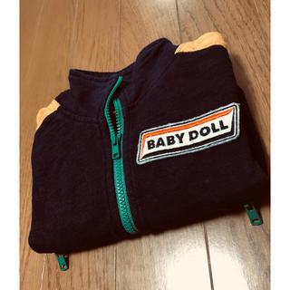 BABYDOLL - BABYDOLL  紺×黄 カッコいいパーカー80