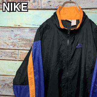 ナイキ(NIKE)のナイキ 90s 銀タグ 希少 マルチカラー ナイロンジャケット XLサイズ(ナイロンジャケット)