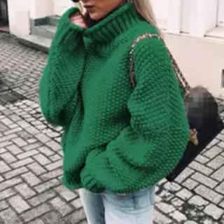 ZARA - ニット 緑
