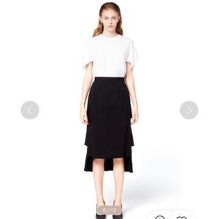 CLANE doublefacepleatsskirt