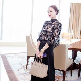 【XL】レディース 人気 ロングドレス 袖あり セットアップ 結婚式(ロングドレス)