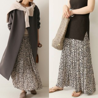 Noble - 値下NOBLE  ニュアンスプリーツマキシスカート