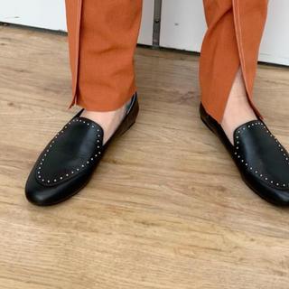 ROSE BUD - フラットシューズ 革靴 スタッズ ローズバッド