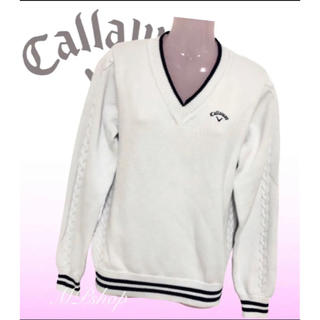 Callaway - 美品♡Callaway キャロウェイ ケーブルニット ゴルフウェア 秋冬