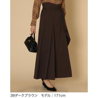 SCOT CLUB - 【早い者勝ち】!タグ付き!サイドリボンラッフルロングスカート(コゲチャ)