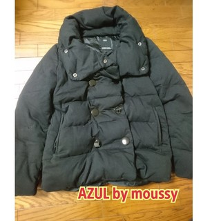 アズールバイマウジー(AZUL by moussy)のAZUL by moussy ダウン 黒(ダウンジャケット)