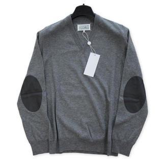 マルタンマルジェラ(Maison Martin Margiela)の新品タグ付き マルジェラ 定番 エルボーパッチ ニット セーター Lサイズ(ニット/セーター)