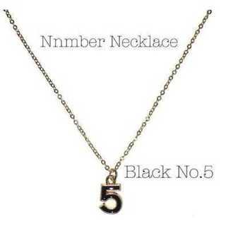 ネックレス ペンダント ビジュー チェーン ゴールド メッキ 5 ブラック(ネックレス)