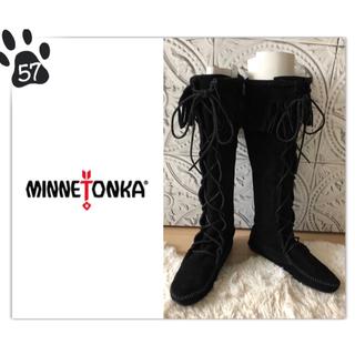 ミネトンカ(Minnetonka)の57 ◆極美品◆ミネトンカ◆スエード フリンジ ロングブーツ size6◆(ブーツ)