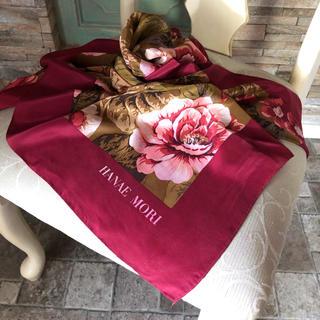 ハナエモリ(HANAE MORI)の正規*HANAE MORI*silk100%スカーフ(バンダナ/スカーフ)