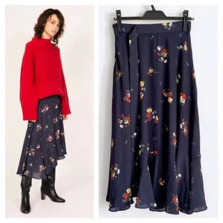 Mila Owen - 花柄フレアスカート