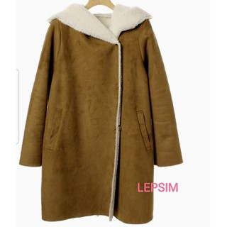 LEPSIM - LEPSIM ムートンコート 美品 ブラウン M