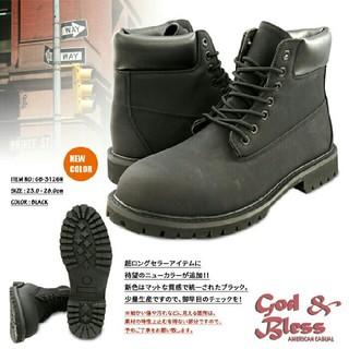 新品送料無料♪超人気☆ティンバー系ワークブーツ☆ブラック(ブーツ)