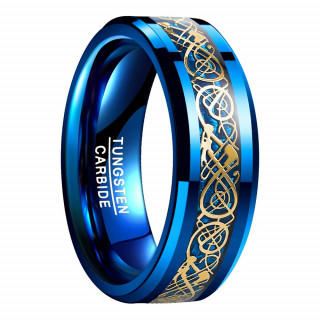 メンズ リング 高級 【タングステン】 炭素繊維 カーボンファイバー ドラゴン(リング(指輪))
