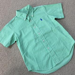 Ralph Lauren - (100㎝)■ラルフローレン/RALPHLAUREN■緑×白チェック半袖シャツ