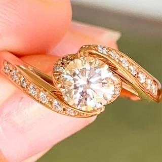 専用❗️美品❗️大粒 上質 k18 ダイヤリング  k18ダイヤモンドリング(リング(指輪))