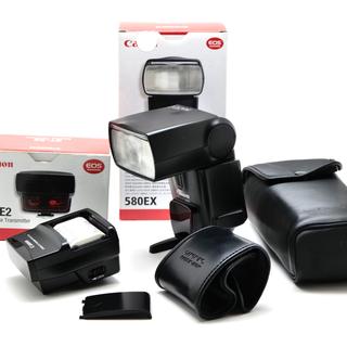 キヤノン(Canon)の【並品】Canonキヤノン580EXスピードライト+ST-E2トランスミッター(ストロボ/照明)