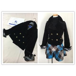BURBERRY BLUE LABEL - 美品 バーバリー ブルーレーベル 中わた コート ブラック キルティング