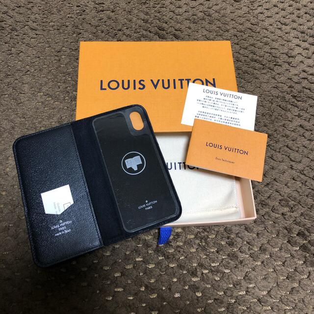 LOUIS VUITTON - iPhoneX iPhoneXS ルイヴィトン エピ  ブラック 手帳型ケースの通販