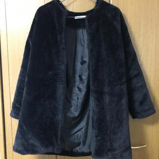 グレイル(GRL)のフェイクファーコート 黒(毛皮/ファーコート)