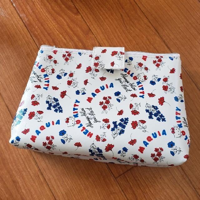 ハローキティ(ハローキティ)のマキア 付録 ハローキティ ダブルコスメポーチ レディースのファッション小物(ポーチ)の商品写真