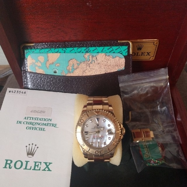 bb38wsldch - ROLEX - ロレックスヨットマスターboys金無垢シェル文字盤ダイヤ サファイアの通販 by tomoki's shop
