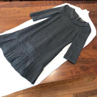 FOXEY - FOXEYブティックラインお袖、衿つきウールワンピース38