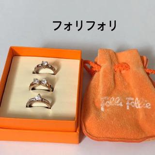 フォリフォリ(Folli Follie)のフォリフォリ  3連リング(リング(指輪))