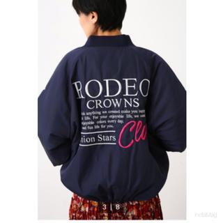 RODEO CROWNS WIDE BOWL - ロデオクラウンズ RCWB 新作 ALLSTAR BIGブルゾン ネイビー