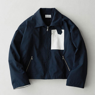 SUNSEA - Short Length Drizzler Jacket 2nd Navy
