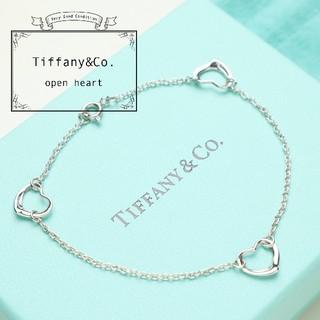 Tiffany & Co. - 新品仕上げ TIFFANY ティファニー オープンハート ブレスレット