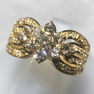 1.00ct ダイヤモンドリング k18yg 18金 イエローゴールド(リング(指輪))