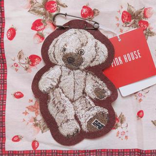 PINK HOUSE - ピンクハウス *ベア刺繍ワッペンブローチ 新品 未使用
