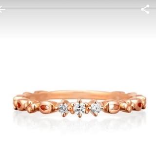 ヨンドシー(4℃)の4°C k10 ダイヤ リング 6号 10金 ダイヤモンド 指輪(リング(指輪))