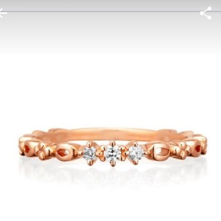 4℃ - 4°C k10 ダイヤ リング 6号 10金 ダイヤモンド 指輪