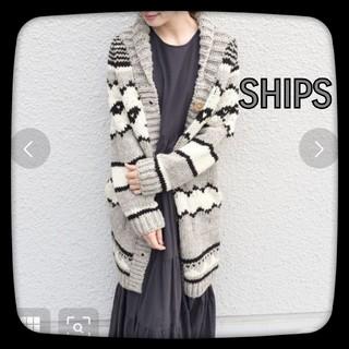 SHIPS - SHIPS シップス 【WEB限定】ショールカラーロングカーディガン/グレー