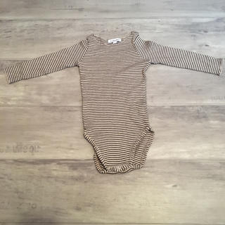 Bonpoint - CARAMEL border rompers shirt.