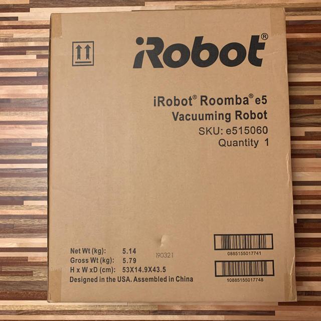 iRobot(アイロボット)のiRobot ルンバ e5 未開封新品 専用です。 スマホ/家電/カメラの生活家電(掃除機)の商品写真