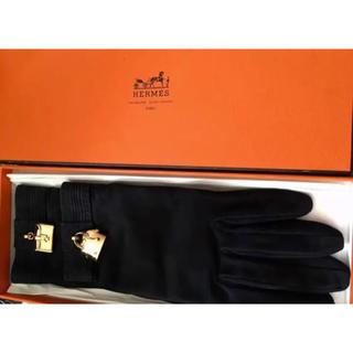 エルメス(Hermes)のエルメス❤チャーム 手袋 ブラック 未使用 (手袋)