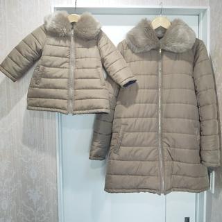 キムラタン(キムラタン)のdolcina (ドルチーナ) リバーシブル中綿コート キッズとママの2枚セット(コート)