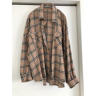 しまむら - しまむら*チェックシャツ*ぽわん袖*バルーン袖
