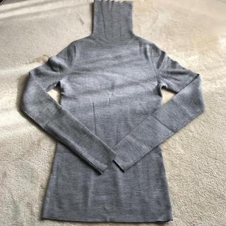 ベルメゾン - リブ タートルネックセーター グレー Lサイズ