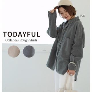 TODAYFUL - ブラッシュボーイフレンドシャツ TODAYFUL 19AW新品 ターコイズブルー