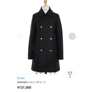 Drawer - Drawer 定番☆美品☆メルトンPコート  ブラック 38