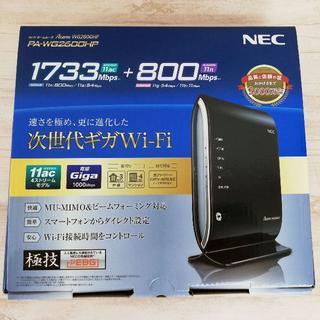 エヌイーシー(NEC)の中古★Wi-Fi 高性能無線ルーター NEC PA-WG2600HP(PC周辺機器)