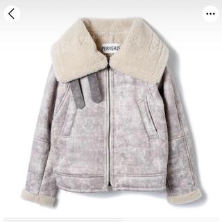 perverze / wide collar mouton coat