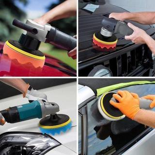 ポリッシャー スポンジ バフ 電動ドリル用 8点セット 洗車 ワックスがけ 研磨