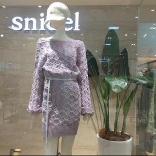 snidel - snidel パターンニットミニワンピース