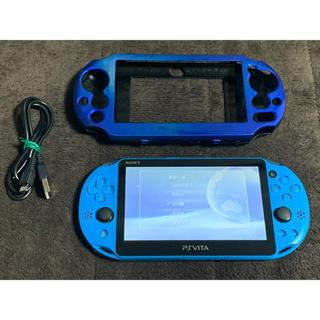 PlayStation Vita - vita アクアブルー  送料無料 ②