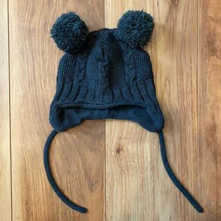エイチアンドエム(H&M)のH&M ベビーニット帽 ダークグレー(帽子)